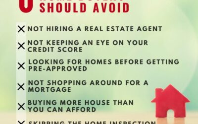 6 Mistakes First-time Homebuyers Should Avoid